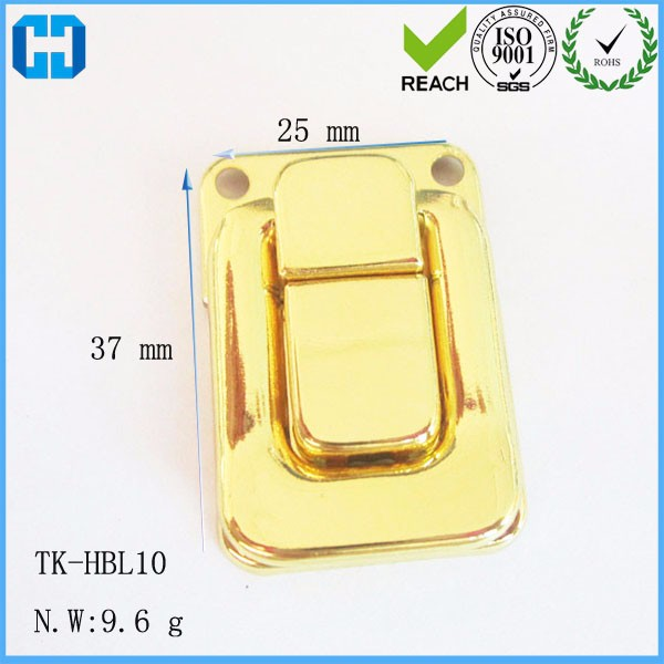 TK Jewelry Box Case Gold Plated Metal Safety Fixing Hasp Lock
