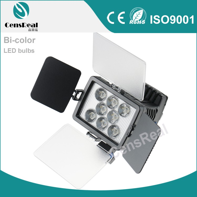 Bi-color 8 LED bulbs camera video light for wedding photography lighting kit