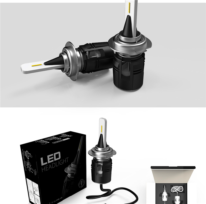 100w super bright H4 led auto bulb replacing halogen headlights with led for car and motorcycle