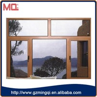 ,2015 modern style best price high quality tempered glass aluminum frame casement windows