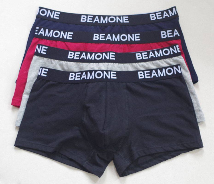 Custom underwear USD0.5 printed fashion boxer short polyester cotton briefs man underwear