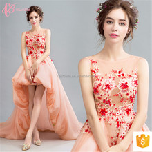 Vibrant Orange Elegant For Women Thai Silk Evening dress