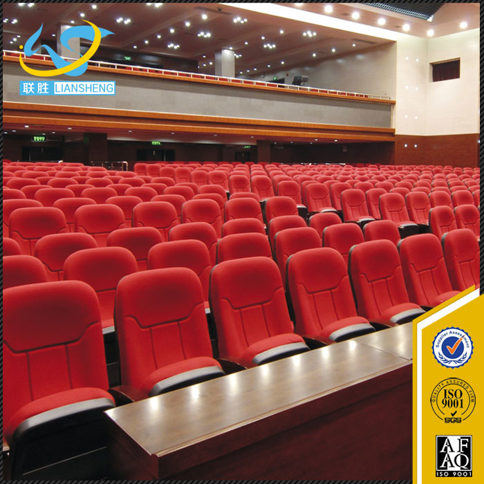 Factory low price auditorium chairs/concert hall chair with writing board