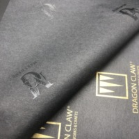 25gsm Custom Brand Name Design Printed Cotton Package Tissue Black Paper