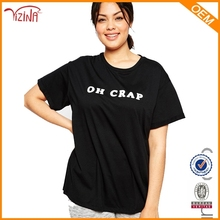 Plus size women clothing/tall t-shirts wholesale/t shirts manufacturers china