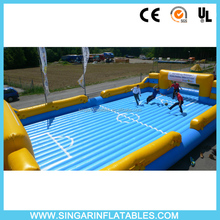 Portable inflatable water soccer field,inflatable soap soccer field