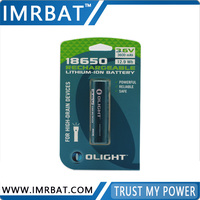 rechargeable lithium ion battery 18650 3.6V 3600mAh for Mostray Flashlight and Cigarette