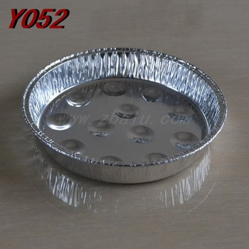 7 inches aluminum foil round roaster snail plate Y052