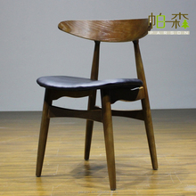 Replica Solid Wood Simple Dining Chair Hans J. Wegner Chair Dining Chair wooden Dining Chair y8056