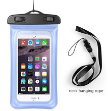 Hot selling multi function fashionable cell phone carry bag clear pvc waterproof bag