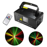 New IR Remote 200mW RGY Laser Stage Lighting 8 CH DMX 512 PRO Scanner DJ Party KTV Show Projector Equipment Light