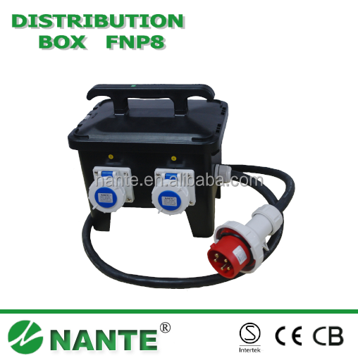 Plastic Plug Socket Distribution Box Waterproof IP44 P502 16A