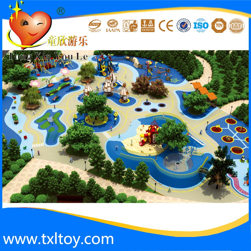 Eco-friend theme park amusement equipment customized by the site
