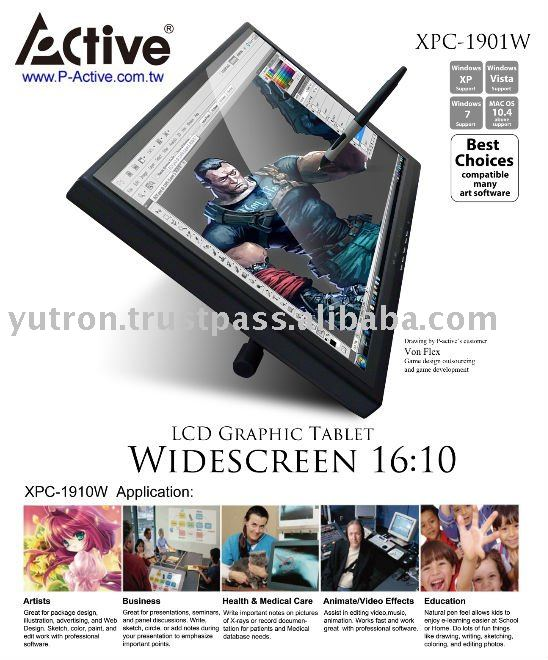 "19"" Wide Screen 16:10 LCD Graphic Tablet XPC-1901W"