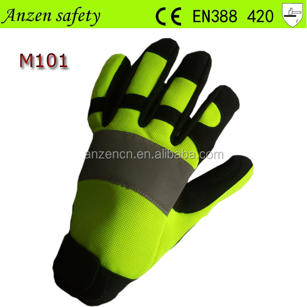 china manufacture polyester and spandex work mechanical gloves