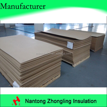 laminated pressboard for electrical purposes