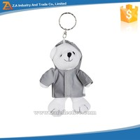 OEM Logo Printing Promotional Gifts Reflective Cute Keychain of Different Shapes