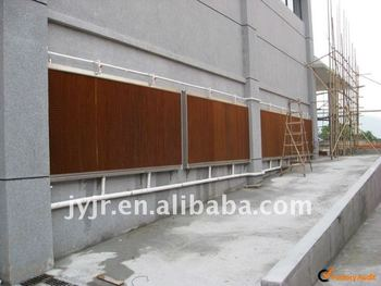 cooling pad wall for construction