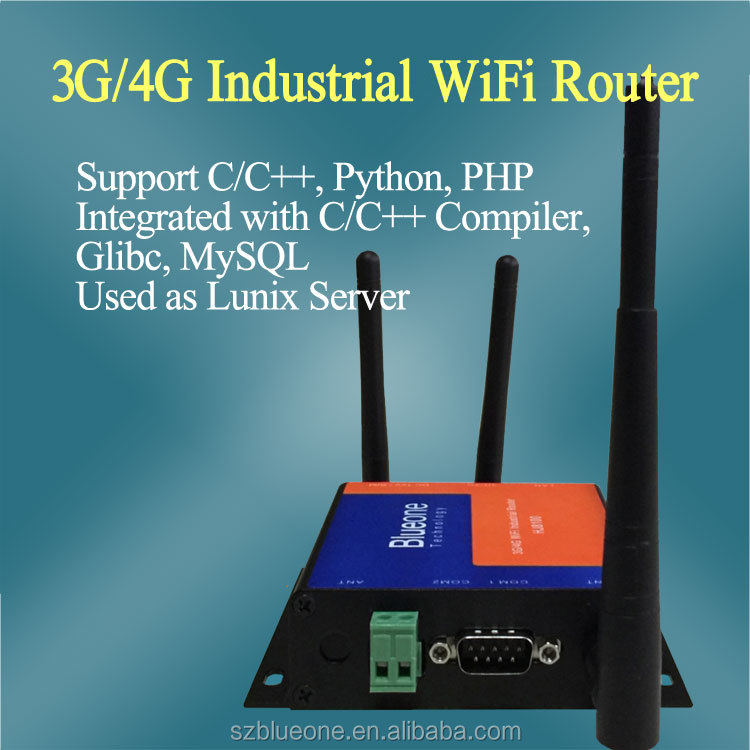 RS232 RS485 433HMz 3G Industrial Router Long Range WiFi 3G Router