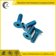 Customized 7075 Aluminum round head hex socket screws ,M3 round head screw