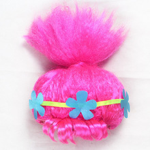 Trolls Wig Poppy Cosplay Wig For Children Fancy Party Girls Wigs Halloween Gift for Kids