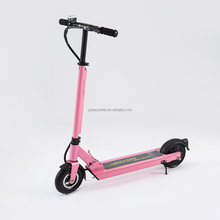 8inch pink colour folding aluminum electric kick scooter; electric mobility scooter for adults