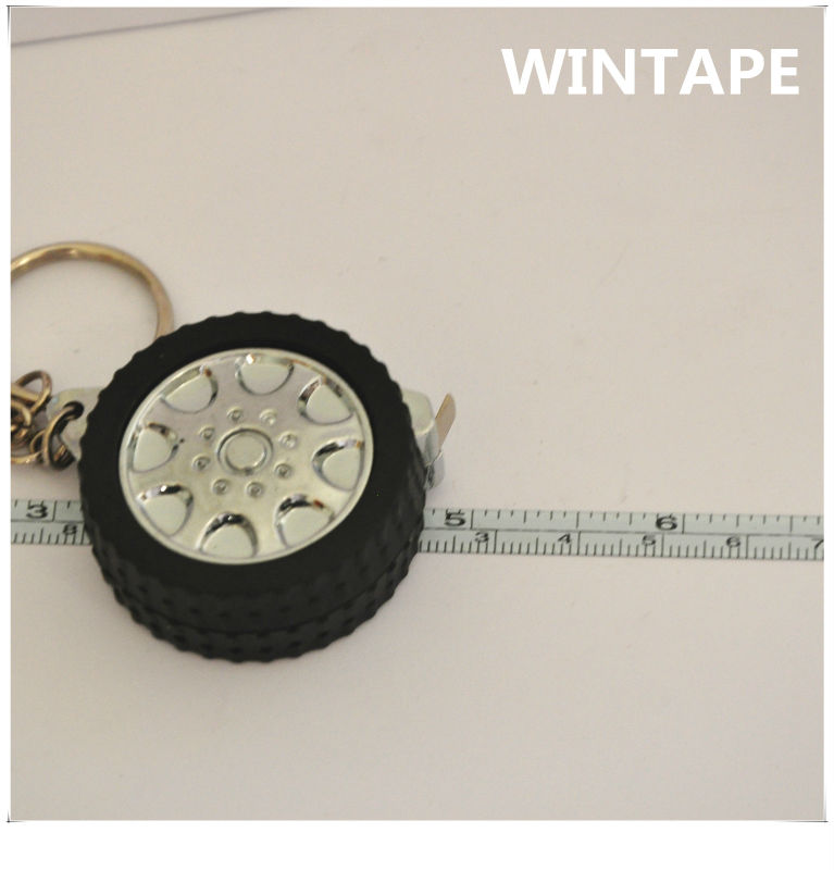 Top professional rotatable abs case tyre shape tape measure promotional gift