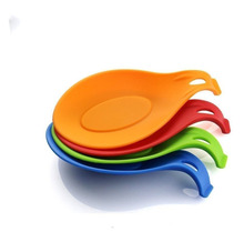 High Quality Food Grade Heat Resistant Kitchen Silicone Spoon Holder Silicone Spoon Rest