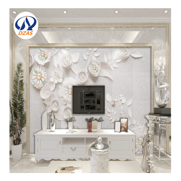 3D Stereo TV sofa Background wallpaper Custom murals non woven wallpaper modern minimalist living room ZMH wallpaper