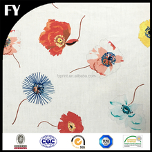 2017 best selling floral design custom digital printed bed sheet cotton