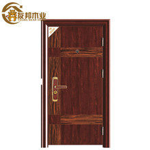 Elegant carved front french style security iron grill door elegant commercial steel security door YBSD-701