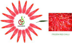 Frozen red chilli