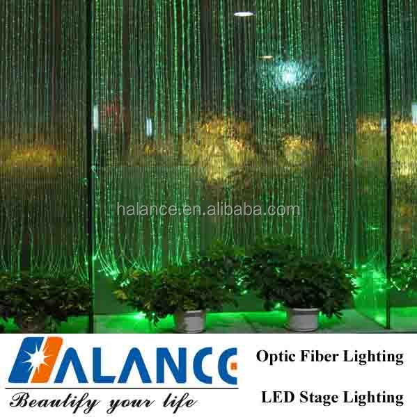 elegant side view optic fiber waterfall curtain the bedroom for high class location