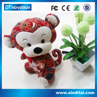 2015 hot selling!cute plush stuffed monkey soft toy with music