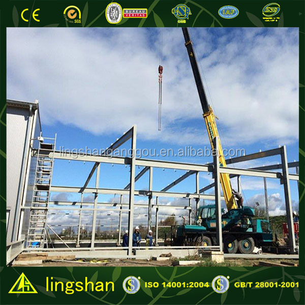 easy assembled construction design steel structure warehouse