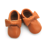 Wholesale Soft Real Leather Moccasins Baby Girl Shoes