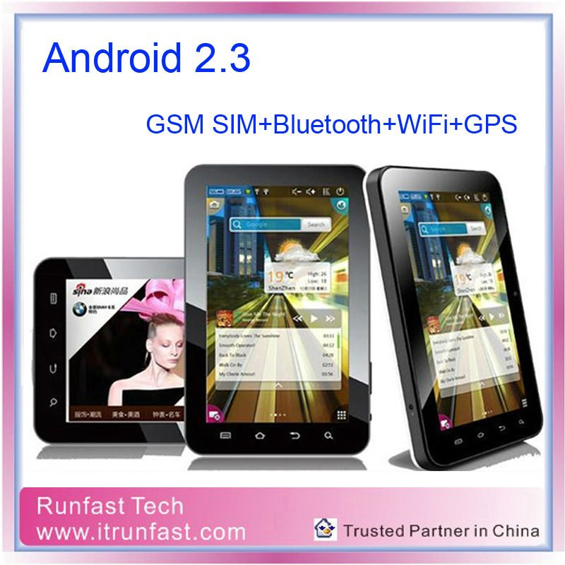 7 inch Android 2.3 Tablet PC with GSM