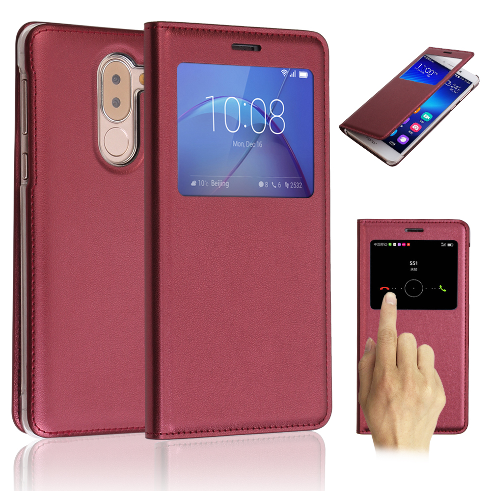 Hot Vintage PU leather flip dormant smart case for honor 6x full back case cover for Huawei Honor 6x