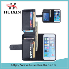 Guangzhou different leather texture 5.5 inch wallet phone case for iphone6 plus