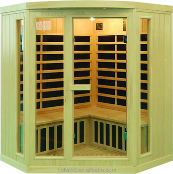 Classic Far infrared hemlock corner sauna room