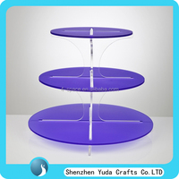 Party Decorations Wedding Favors Acrylic Wedding Cake Stands,colored round 3 4 5 Tiered Acrylic Cake Stand for 18 cupcakes