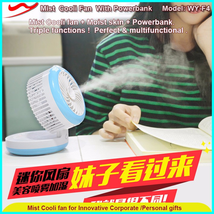 Misting cooli fan 2000mA table handheld design shenzhen electronics co ltd