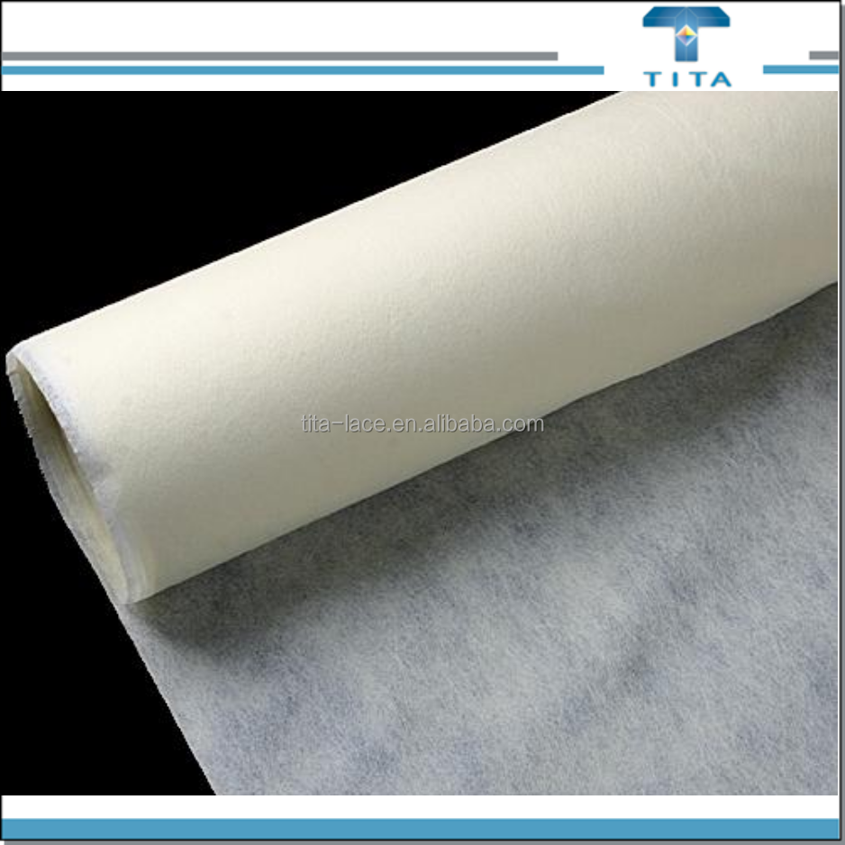 non woven hot water soluble paper used for lace embroidery backing