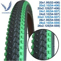 green color shoulder 54-559 bicycle tire