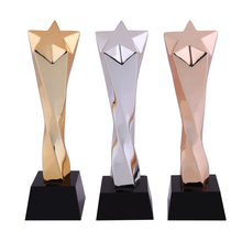 New products cheap wholesale football trophy Oscar trophy wooden crystal trophy base