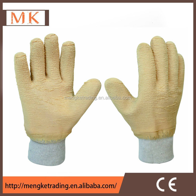 cheap Industry working gloves with Crinkle latex rubber coated
