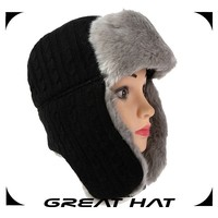 China high quality black russian types of winter hats