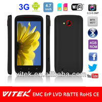4.7 inch Android 4.0 Dual Core MTK6577 Dual Sim 3G Smart phone