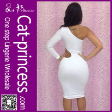 Fashion design white dress cheap wholesale plus size bodycon dresses