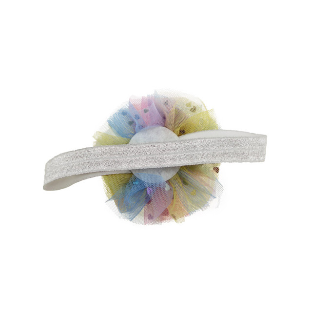 Baby sweet rainbow headband soft elastic hair band accessories